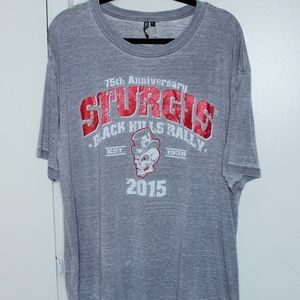 Sturgis Black Hills Rally Distressed Tshirt XXL